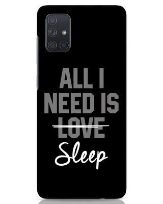 Shop Sleep Samsung Galaxy A71 Mobile Cover-Front