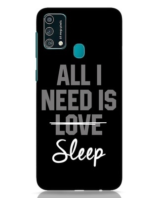 Shop Sleep Samsung Galaxy F41 Mobile Cover-Front