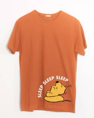 Shop Sleep Sleep Sleep Half Sleeve T-Shirt (DL)-Front