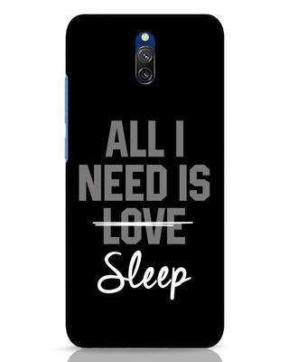 Shop Sleep Xiaomi Redmi 8A Dual Mobile Cover-Front