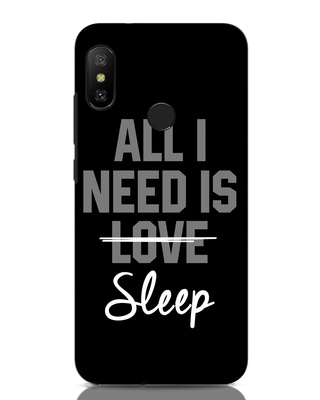 Shop Sleep Xiaomi Redmi Note 6 Pro Mobile Cover-Front