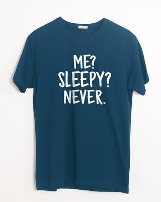 Shop Sleepy Or Me Half Sleeve T-Shirt-Front