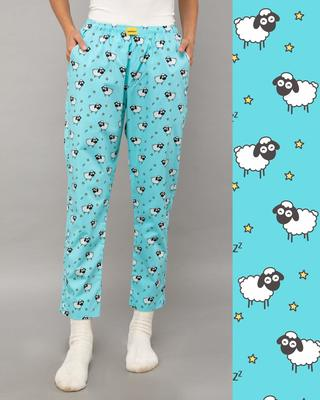 Shop Sleepy Sheep All Over Printed Pyjama-Front