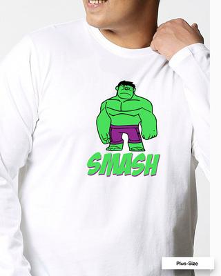 Shop Smash It (AVEGL) Full Sleeves Plus Size T-Shirt-Front
