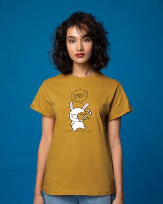 Shop Smile Please Boyfriend T-Shirt-Front