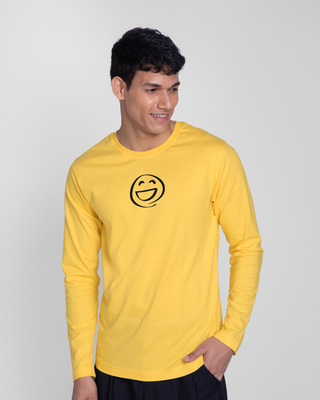 Shop Smiley Emoji Full Sleeve T-Shirt-Front