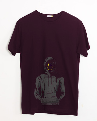 Shop Smiley Guy Half Sleeve T-Shirt-Front