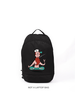 Shop Smoked Baba Printed Small Backpack-Front