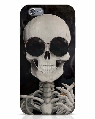 Shop Smoking Skull iPhone 6 Mobile Cover-Front