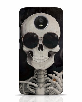 Shop Smoking Skull Moto E4 Plus Mobile Cover-Front