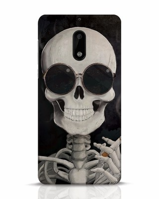 Shop Smoking Skull Nokia 6 Mobile Cover-Front