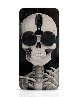 Shop Smoking Skull OnePlus 6 Mobile Cover-Front