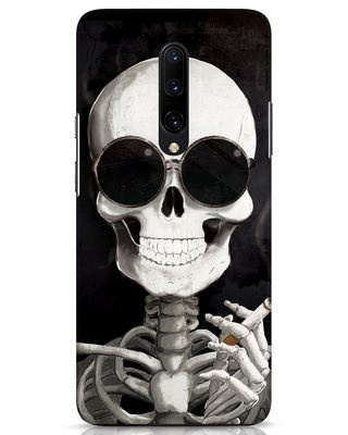 Shop Smoking Skull OnePlus 7 Pro Mobile Cover-Front