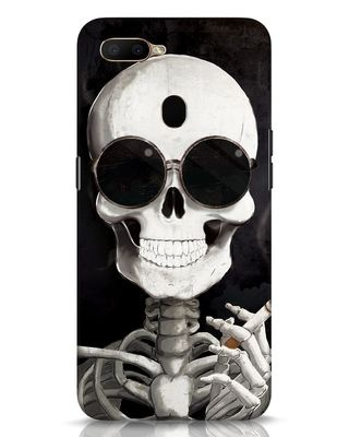 Shop Smoking Skull Oppo A5s Mobile Cover-Front