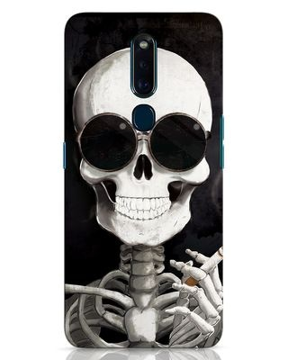 Shop Smoking Skull Oppo F11 Pro Mobile Cover-Front