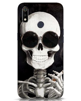 Shop Smoking Skull Realme 3i Mobile Cover-Front