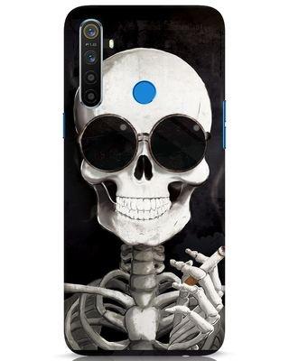 Shop Smoking Skull Realme 5 Mobile Cover-Front