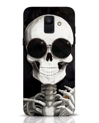 Shop Smoking Skull Samsung Galaxy A6 2018 Mobile Cover-Front