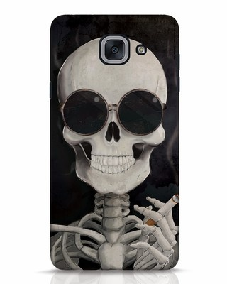 Shop Smoking Skull Samsung Galaxy J7 Max Mobile Cover-Front