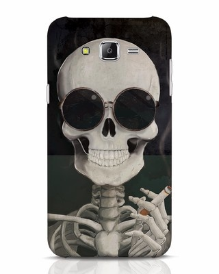 Shop Smoking Skull Samsung Galaxy J7 Mobile Cover-Front