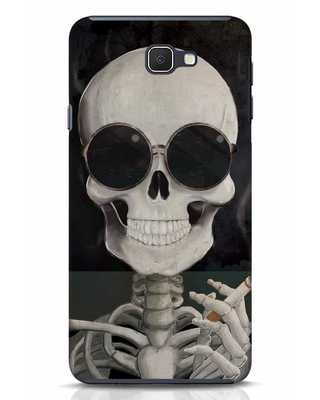 Shop Smoking Skull Samsung Galaxy J7 Prime Mobile Cover-Front