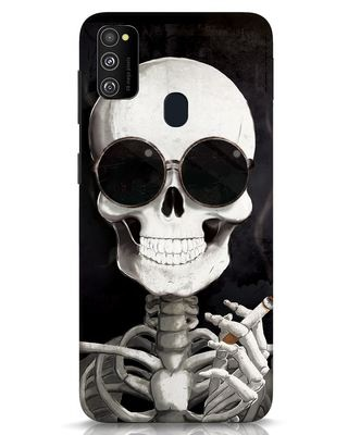 Shop Smoking Skull Samsung Galaxy M30s Mobile Cover-Front