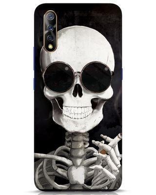 Shop Smoking Skull Vivo S1 Mobile Cover-Front