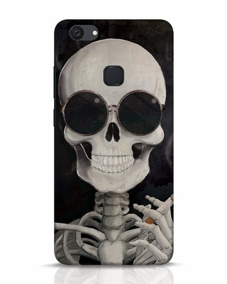 Shop Smoking Skull Vivo V7 Plus Mobile Cover-Front