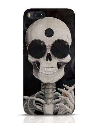 Shop Smoking Skull Xiaomi Mi A1 Mobile Cover-Front