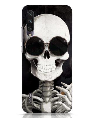 Shop Smoking Skull Xiaomi Mi A3 Mobile Cover-Front