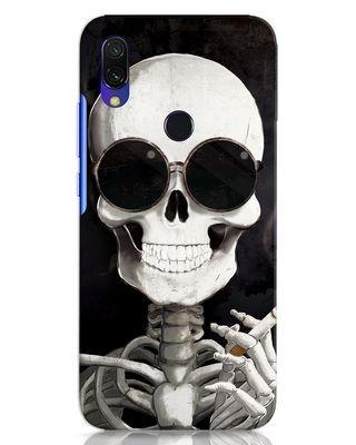 Shop Smoking Skull Xiaomi Redmi 7 Mobile Cover-Front