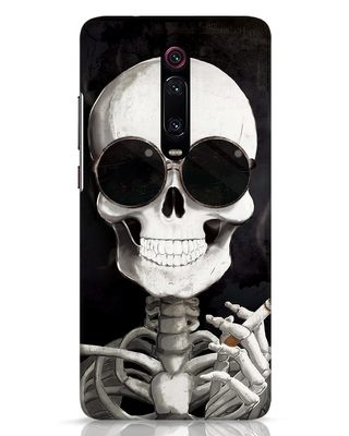 Shop Smoking Skull Xiaomi Redmi K20 Pro Mobile Cover-Front