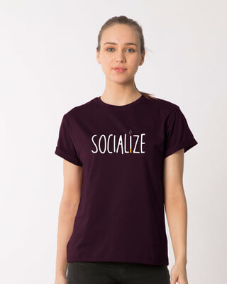 Shop Smoklize Boyfriend T-Shirt-Front