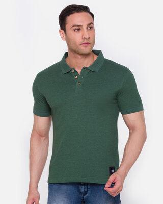 Shop Smugglerz inc. Men's ARMOR Polo T-Shirt Green-Front