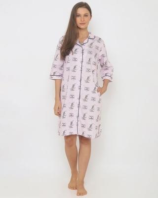 Shop T&J Recharging Women Sleepshirt Lilac-Front