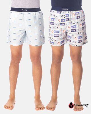 Shop Smugglerz Men's Cannes holiday Boxer Pack of 2-Front