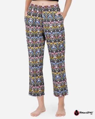 Shop Smugglerz women's Pyjamas Cat & Flower-Front