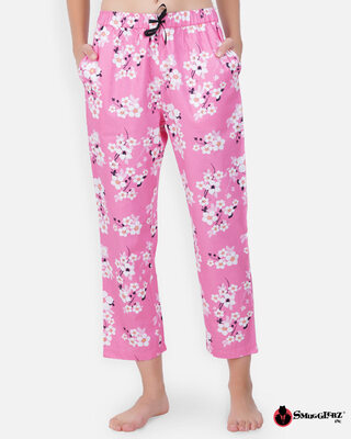 Shop Smugglerz women's Pyjamas Pink Flower-Front
