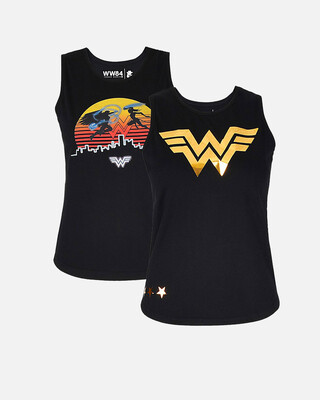 Shop Smugglerz Women's WW84 2 Pc Pack 3D Gold & Sun Tank Top-Front