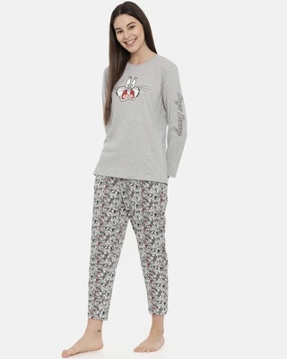 Shop Snarky Gal Looney Tunes - Dramatic Bugs Pajama Set-Front