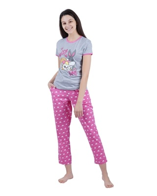 Shop Snarky Gal Looney Tunes - Snuggle Time Pajama Set-Front