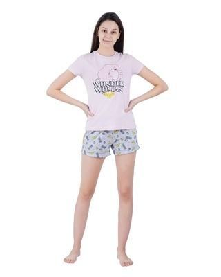 Shop Snarky Gal Wonder woman Shorts Set-Front
