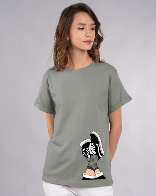 Shop Sneaker Girl Boyfriend T-Shirt-Front