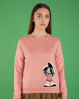 Shop Sneaker Girl Fleece Sweater-Front