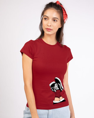 Shop Sneaker Girl Half Sleeve T-Shirt-Front