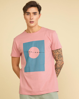 Shop Snitch Birds Salmon Pink Graphic T-Shirt-Front