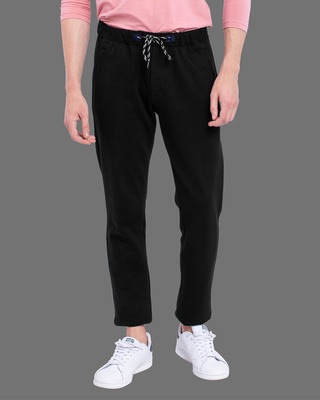 Shop Snitch Black Amour Knitted Pants-Front