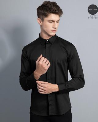Shop Snitch Gallant Black Shirt-Front