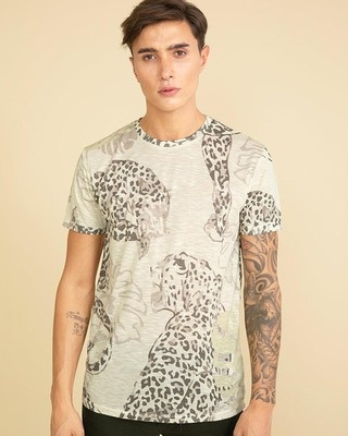Shop Snitch Leopard Lime Yellow T-Shirt-Front
