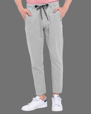 Shop Snitch Grey Amour Knitted Pants-Front
